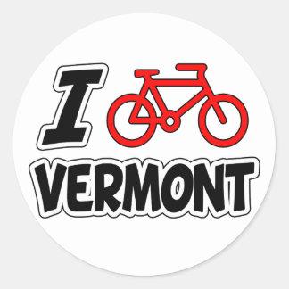 I Love Cycling Vermont Round Sticker
