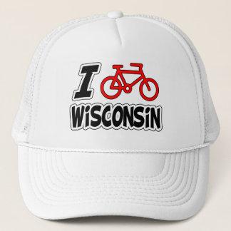 I Love Cycling Wisconsin Trucker Hat