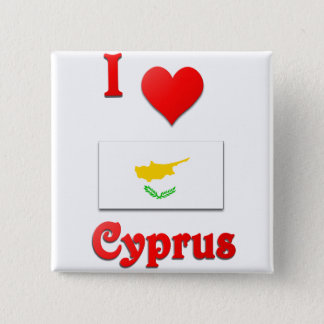 I Love Cyprus 15 Cm Square Badge