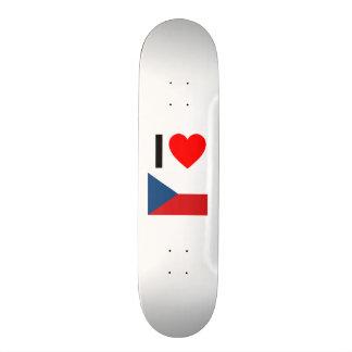 i love czech republic custom skate board