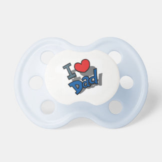 I LOVE DAD PACIFIER BINKY BLUE OR PINK ADORABLE