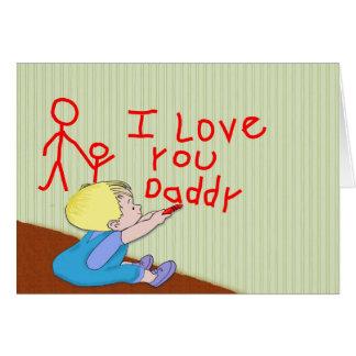 I Love Daddy baby boy Card