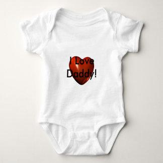 I Love Daddy Heart Logo Infant Creeper