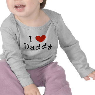I Love Daddy infant cute baby T Shirt