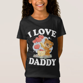 I Love Daddy Son Daughter Gift T-Shirt