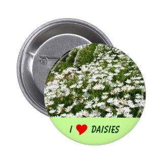 I Love Daisies 6 Cm Round Badge