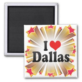 I Love Dallas Square Magnet