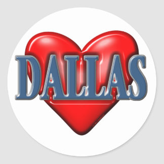 I love Dallas Texas Classic Round Sticker