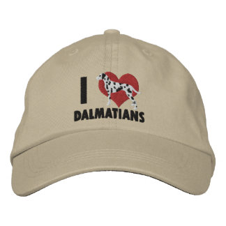 I Love Dalmatians Embroidered Hat