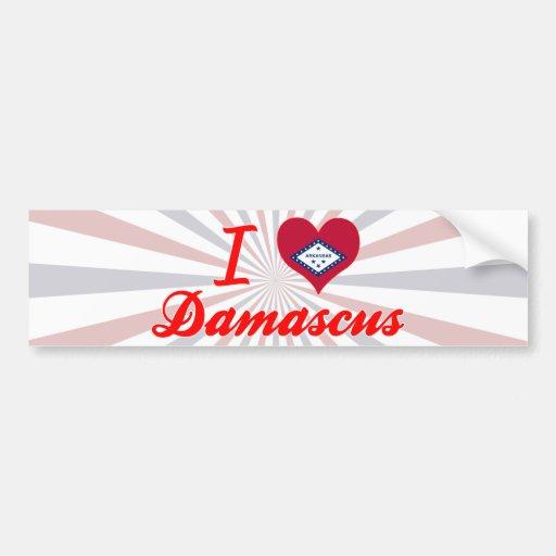 I Love Damascus, Arkansas Bumper Stickers