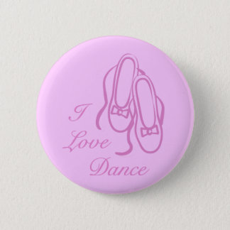 I Love Dance 6 Cm Round Badge