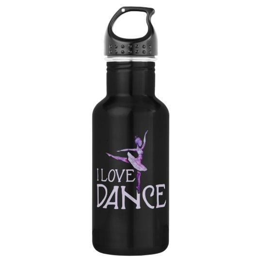 I Love Dance Ballet 532 Ml Water Bottle