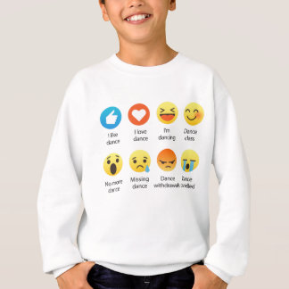 I Love Dance Emoticon (emoji) Social (dark font) Sweatshirt
