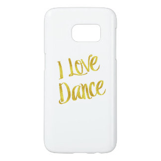 I Love Dance Gold Faux Foil Metallic Quote