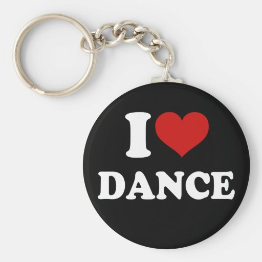 I Love Dance Key Chains