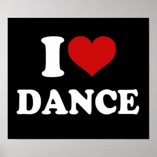 I Love Dance Print