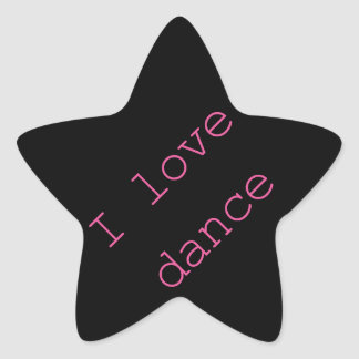 I love Dance! Star Sticker