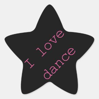 I love Dance! Star Sticker
