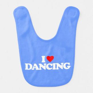 I LOVE DANCING BABY BIB