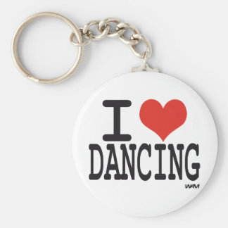 I love dancing key ring