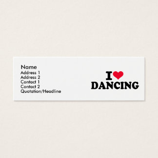 I love dancing mini business card