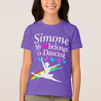 I LOVE DANCING PERSONALIZED T SHIRT