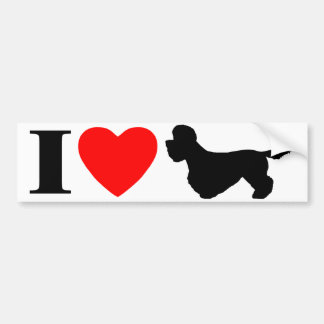 I Love Dandie Dinmont Terriers Bumper Sticker
