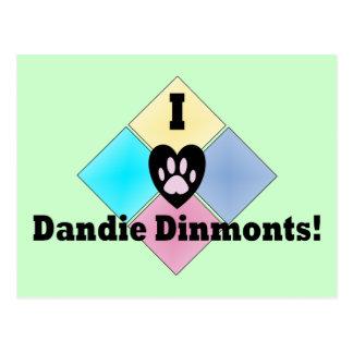 I love Dandie Dinmonts Postcard