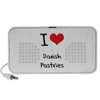 I Love Danish Pastries Mini Speaker
