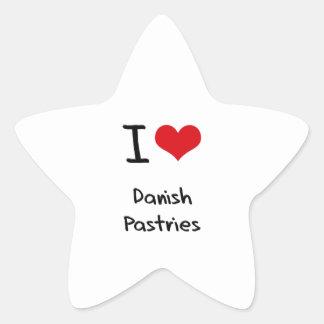I Love Danish Pastries Stickers