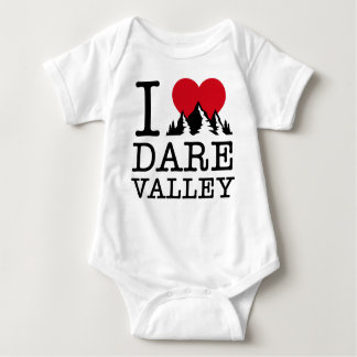 """I Love Dare Valley"" Baby Bodysuit"