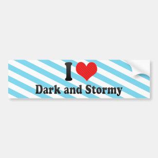 I Love Dark and Stormy Bumper Stickers