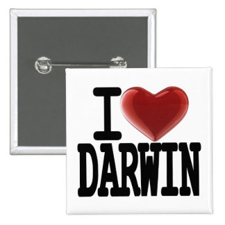 I Love DARWIN 15 Cm Square Badge