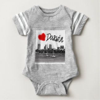 i love Darwin Baby Bodysuit