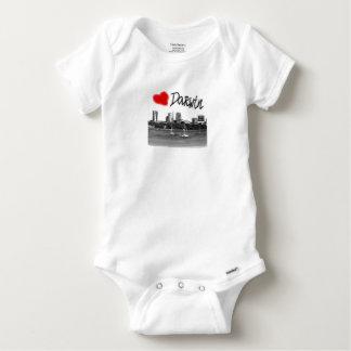 i love Darwin Baby Onesie
