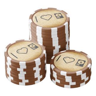 I Love Data Hard Drives Poker Chips