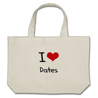 I Love Dates Tote Bags