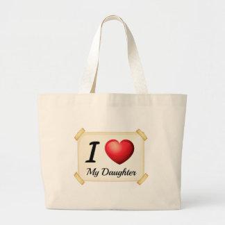 I love daughter jumbo tote bag