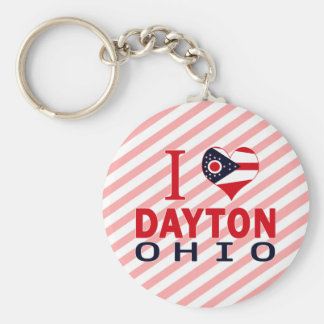 I love Dayton, Ohio Basic Round Button Key Ring