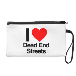 i love dead end streets wristlet purses