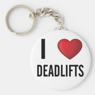 I Love Dead Lifts Gym Basic Round Button Key Ring