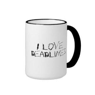 I love deadlines - urban edgy office work mug