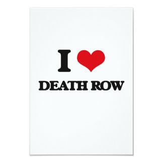 "I love Death Row 3.5"" X 5"" Invitation Card"