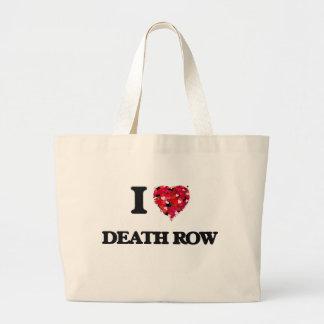 I love Death Row Jumbo Tote Bag