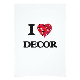 I love Decor 13 Cm X 18 Cm Invitation Card