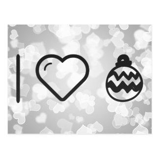 I Love Decoration Eggs Postcard