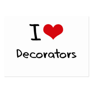 I Love Decorators Business Card Template