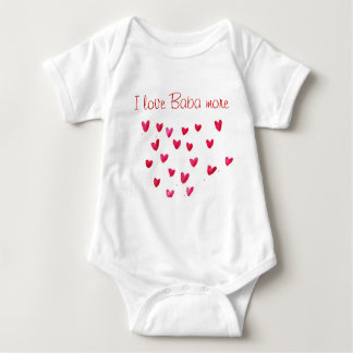I love Dedo - I love Baba more Baby Bodysuit