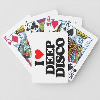 I LOVE DEEP DISCO POKER DECK