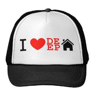 i love deep house music dj baseball cap trucker hats